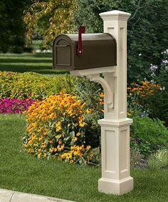 Mayne Newport Plus Mailbox Post, Clay at BestNest.com