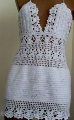 Image gallery – Page 368591550750135815 – Artofit Crochet Woman, Hand Crochet, Crochet Lace, Hippie Crochet, Crochet Designs, Crochet Patterns, Crochet Wedding Dresses, Crochet Bikini Top, Crochet Clothes