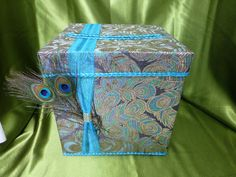 Peacock Gift Card Box on Etsy, $69.00