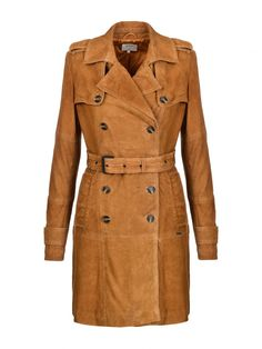 Pepe Jeans Real leather trench coat MILA