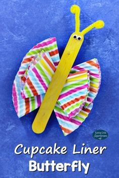 Celebrate the first day of Spring and create this easy-to-make Cupcake Liner Butterfly Craft for kids.
