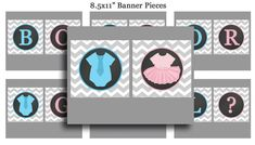 Gender Reveal Boy or Girl Bunting Banner by ThatPartyChick on Etsy, $9.50