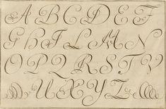https://flic.kr/p/m2Pcp8 | La penna da scrivere - Francesco Polanzani, 1768 c | For background info & links, please see: bibliodyssey.blogspot.com/2014/03/alphabet-writing-copybo...