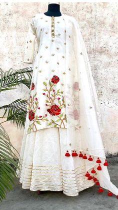 19 Most Popular Ideas White Dress Pakistani Wedding Pakistani Dress Design, Pakistani Dresses, Indian Dresses, Indian Outfits, Red Lehenga, Lehenga Choli, Indian Anarkali, Sharara, Stylish Dresses