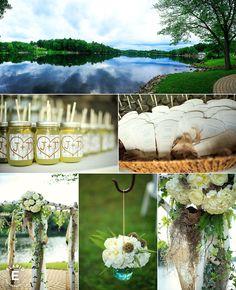 rustic wedding, shepherds hooks, birds nest, chuppah, arbor, mason jars #rustic #masonjars #fleurtaciousdesigns - Elario Photography
