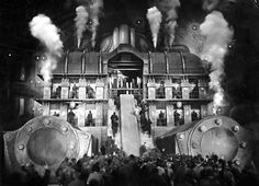 One of the sets for 'Metropolis' (1927) directed by Fritz Lang.