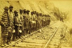 This shows people working on the Railroads.  Why: Because they were slaves and had to work to get paid.
