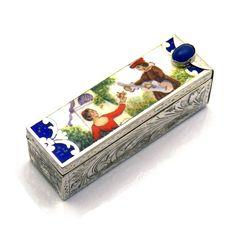 Italian 800 Silver Enamel Lipstick Case Engraved Foliate | Etsy Lipstick Case, Lipstick Holder, Silver Enamel, Black Enamel, Vintage Jewelry, Victorian Jewelry, Vintage Items, Vintage Vanity, Decorative Boxes