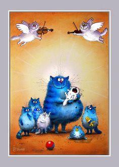 cat illustrations from Russian artist