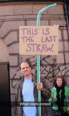When dads protest... - #funny #lol #viralvids #funnypics #EarthPorn more at: http://www.smellifish.com