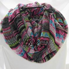 Blue Black Green Fuchsia Charcoal Multicolor Aztec by elgies