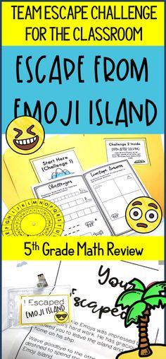 Grade Escape from Emoji Island® (Math Test Prep) Elementary Math, Upper Elementary, 5th Grade Classroom, Classroom Hacks, Fifth Grade Math, Fourth Grade, Student Teaching, Teaching Ideas, Math Challenge
