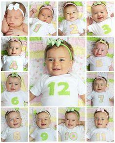 Collage de Mes a Mes de tu baby