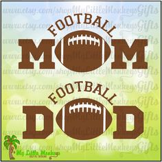 Football Arched Mom and Dad Design Full Color Digital File Jpeg Png SVG EPS DXF Instant Download - pinned by pin4etsy.com