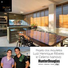 Para emoldurar a paisagem de Belo Horizonte, as janelas deste espaço gourmet contam com as persianas de madeira Country Woods!