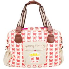 "Pink Lining ""Yummy Mummy"" Butterflies Changing Bag"