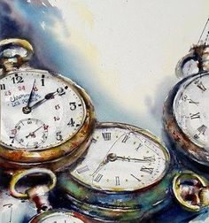 'Latecomers on Arches' by Catherine Rey. Still Life Painting, Clock Drawings, Aesthetic Painting, Colorful Backgrounds, Still Life Art, Gcse Art, Time Art, Painting Corner, Still Life Drawing