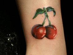 13 Cute and Fruity Cherry Tattoo Designs - http://slodive.com/tattoos/13-cute-fruity-cherry-tattoo-designs/