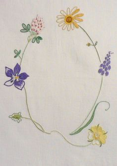 Field flowers alphabet - Q | The French Needle | French Needlework Kits, Cross…