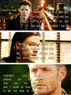 [gifset] Two brothers pushed to the limits of each other. Will they find their way back to the brotherhood we once knew and loved? <3 #Dean #Sam #SPN