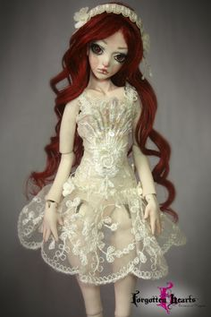 White Spring porcelain ball jointed doll BJD by Forgotten Hearts.