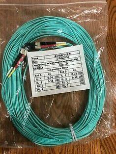 5 lot LC-LC DUPLEX 50//125 MULTIMODE 10GB FIBER Optic om3 CABLE PATCH 1M-6M