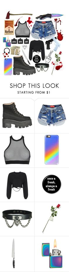 """Killing spree outfit 5.0"" by pastelgothmoth ❤ liked on Polyvore featuring Jeffrey Campbell, Dsquared2, Casetify, Hanky Panky, Wolf, Zippo and Handle"