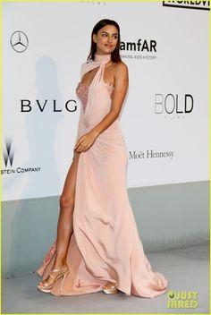 Irina Shayk in Atelier Versace at the amfAR Gala - Cannes 2014