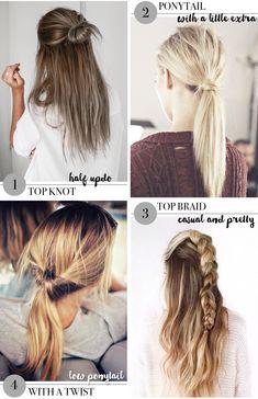 4 easy hairdos