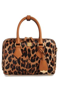 7d7ba5797d8e New MCM Small Boston Leopard Calf Hair Bowler Bag (Nordstrom Exclusive)  Women s Fashion Handbags.   1820  nanaclothing Fashion is a popular style