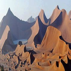 This defo looks fake I have been to Namibia and never in my life have I seen dunes that look like this.Red sands of Namibia, Africa Places Around The World, The Places Youll Go, Places To See, Beautiful World, Beautiful Places, Amazing Places, Wonderful Places, Africa Travel, Natural Wonders