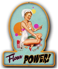 Vintage and Retro Tin Signs - JackandFriends.com - Flour Power Pinup Girl Metal Sign 13 x 16 Inches, $29.98 (http://www.jackandfriends.com/flour-power-pinup-girl-metal-sign-13-x-16-inches/)