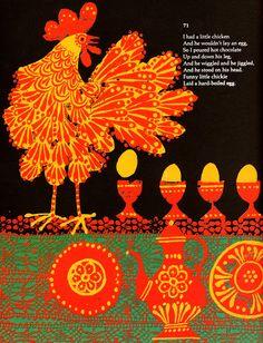 """Sally Go Round the Sun"" illustration by Italian-born, California-based artist Carlos Marchiori (b.1937). via animalarium"