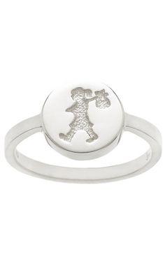 Karen Walker Runaway Stamp ring - sterling silver