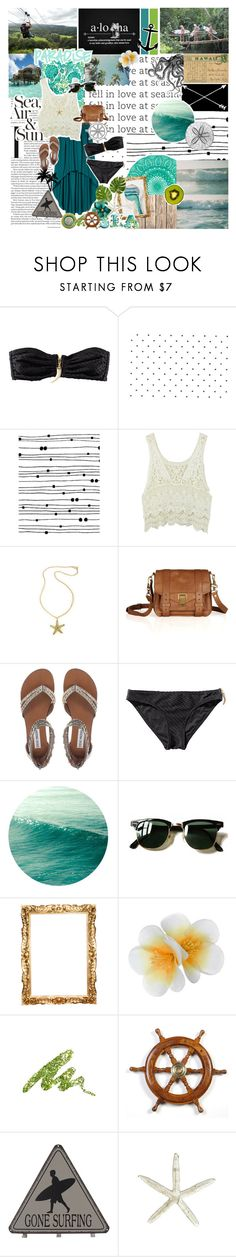 """""""4. Maui"""" by madisonavenuexo ❤ liked on Polyvore featuring H&M, Surfer Girl, Sequin, xO Design, Proenza Schouler, Steve Madden, Cotton Candy, Ray-Ban, KEEP ME and Monsoon"""