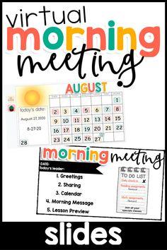 Virtual Morning Meeting