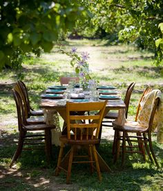 Still Life, Product and Food Photography, San Francisco, Table Setting in Orchard