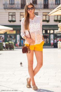 #shorts elegant look #summerfashion, photo by Street Style Seconds
