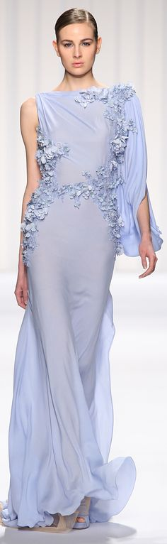 Abed Mahfouz, 2013 ~ incredible periwinkle shade, love the flow