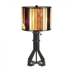 Dale Tiffany Lamps Two Light Table Lamp in Dark Antique Bronze - TT90273