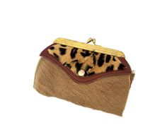 Minimalist Wallet, Cheetah Print, Cow Leather, Wallets For Women, Leather Wallet, Vintage Items, Gifts For Her, Personality, Coins