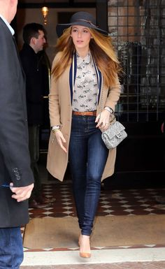 Blake Lively in Jeans Leaving her hotel in New York City on February 19, 2016