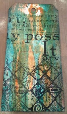 Tag taught by Tim Holtz at one of his workshops :) The Artistic Stamper