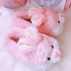 CUTE BUNNY SLIPPERS sold by Foreveronline. Funny Slippers, Soft Slippers, Shearling Slippers, Slippers For Girls, Cute Baby Bunnies, Cute Babies, Fluffy Shoes, Mode Kawaii, Used Cloth Diapers