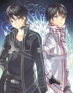 Kirito from Sword Art Online Schwertkunst Online, Arte Online, Online Anime, Sao Anime, Manga Anime, Tous Les Anime, Chibi, Sword Art Online Wallpaper, Kirito Asuna