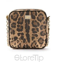 a38fa2797ebff Dolce   Gabbana Leopard Print Mini Shoulder Bag Lange Ärmel