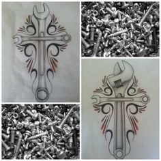 Wrench Tattoo Designs | Wrench Tattoo Designs Wrench cross tattoo designs by alib-artwork
