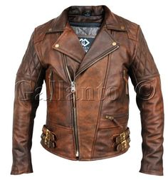 Classic Diamond Motorcycle Biker Brown Distressed Vintage Leather Jacket Armour in Vehicle Parts & Accessories, Clothing, Helmets & Protection, Motorcycle Clothing Winter Leather Jackets, Lambskin Leather Jacket, Vintage Leather Jacket, Vintage Biker, Vintage Cafe, Suede Jacket, Leather Backpack, Leather Wallet, Vintage Style