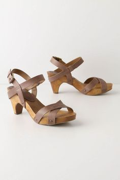 I LOVE these Anthropologie sandals in either white or black- with cute jeans or skirts.  Probably better for summer though...