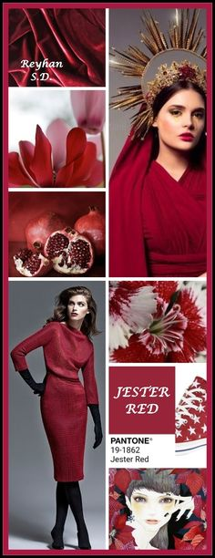 & Jester Red - Pantone Spring/ Summer 2019 Color & by Reyhan S. Yoga Studio Design, New Fashion, Trendy Fashion, Fashion Trends, Color Trends, Color Combinations, Color Schemes, Red Interior Design, Style Cool